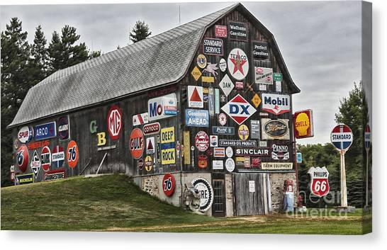 The Sign Barn Canvas Print
