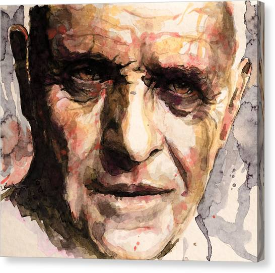 Anthony Hopkins Canvas Print - The Silence Of The Lambs by Laur Iduc