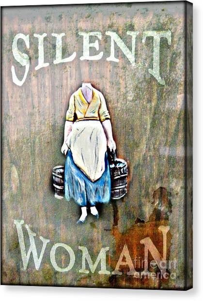 The Silent Woman Canvas Print by Steven Digman