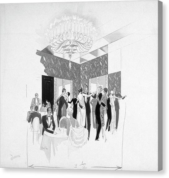 The Silver Room Of The Casino In Central Park Canvas Print