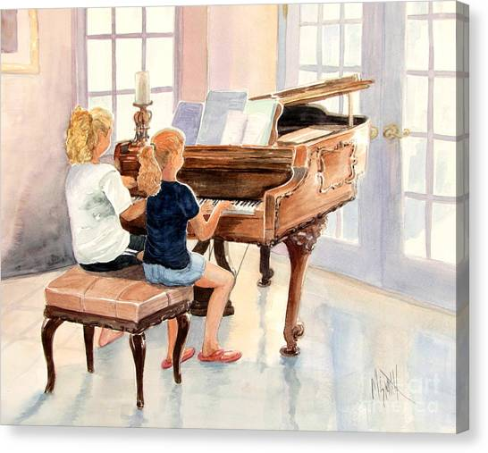 The Sister Duet Canvas Print