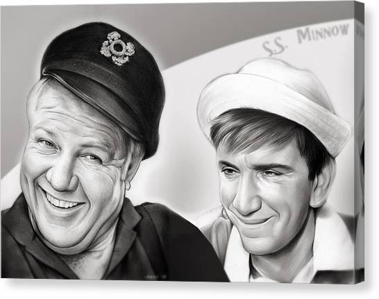 The Skipper And Gilligan Canvas Print