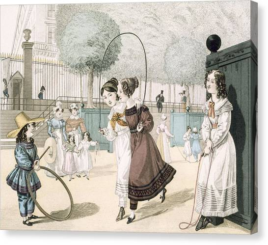Corde Canvas Print - The Skipping Game, Plate 115 From Le by French School