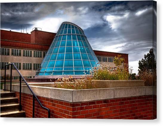 Washington State University Canvas Print - The Skylight Dome On Terrell Plaza - Wsu by David Patterson