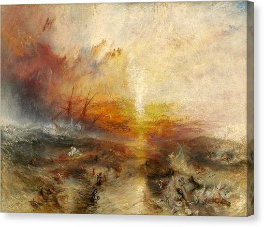 The British Museum Canvas Print - The Slave Ship by JMW Turner