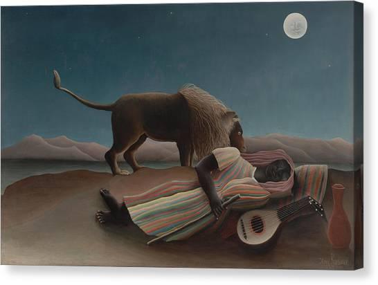 The Sleeping Gypsy Canvas Print
