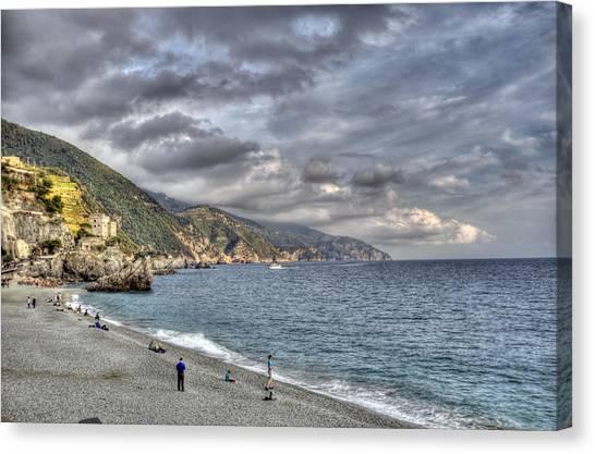 The Small Beach At Monterosso Al Mare Canvas Print