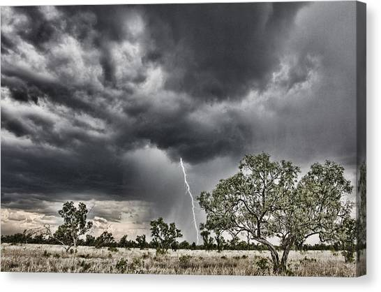 Rainclouds Canvas Print - The Smell Of Rain by Douglas Barnard