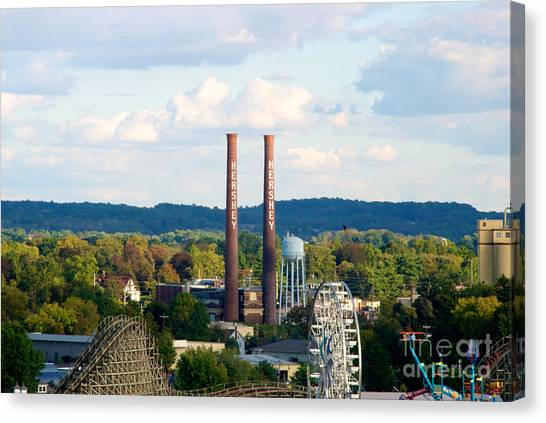 The Smoke Stacks Stand Resolute  Canvas Print