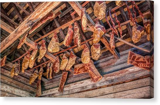 Smokehouses Canvas Print - The Smokehouse by Rob Sellers