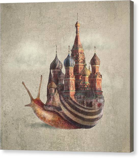 Surreal Canvas Print - The Snail's Daydream by Eric Fan