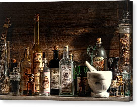 Mortar Canvas Print - The Snake Oil Shop by Olivier Le Queinec