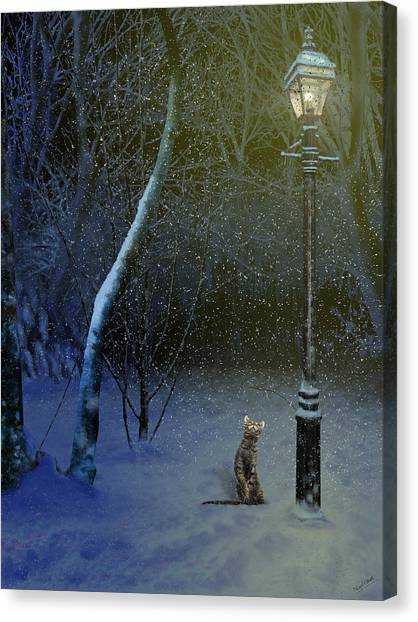 The Snow Cat Canvas Print