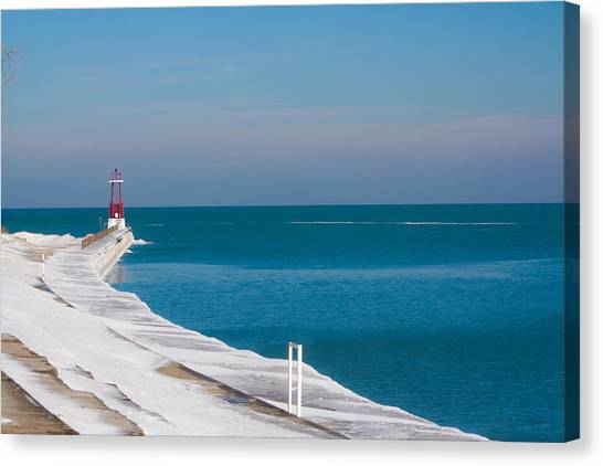 The Snow Swept Michigan Canvas Print