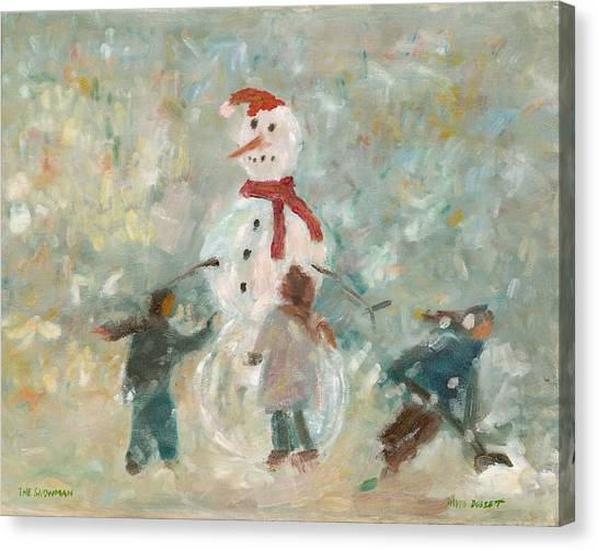 The Snowman Canvas Print