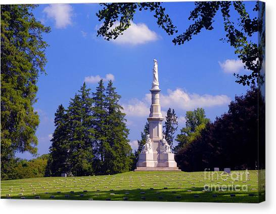The Soldiers Monument Canvas Print