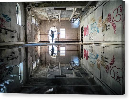 Urban Decay Canvas Print - The Solitary Dancer by Mattia Bonavida