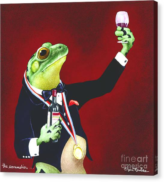 The Sommelier... Canvas Print