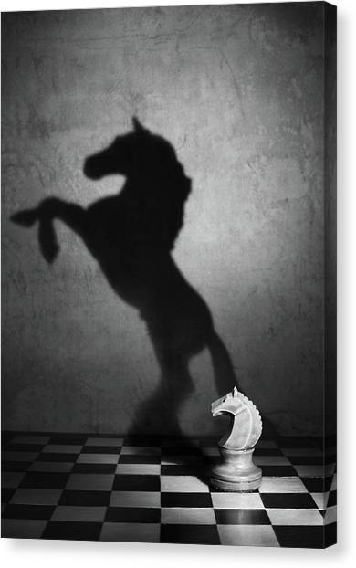 Knights Canvas Print - The Soul Of A Mustang by Victoria Ivanova