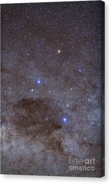 Alpha Kappa Alpha Canvas Print - The Southern Cross And Coalsack Nebula by Alan Dyer