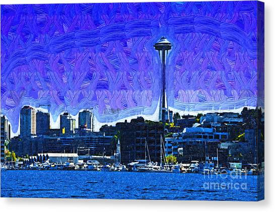 The Space Needle From Lake Union Canvas Print