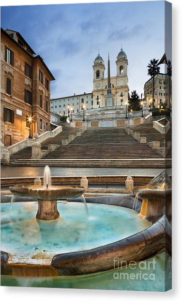 Spanish Steps Canvas Print   The Spanish Steps By Rod McLean