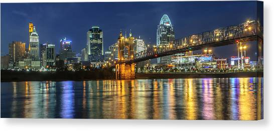 The Sparkle Of The Queen City Canvas Print