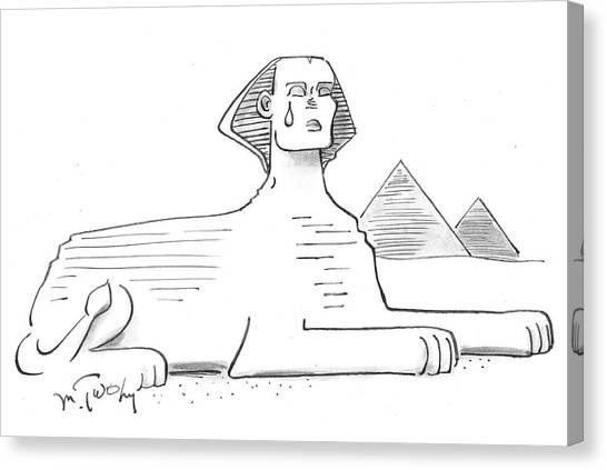 Egyptian Art Canvas Print - The Sphinx Crying by Mike Twohy