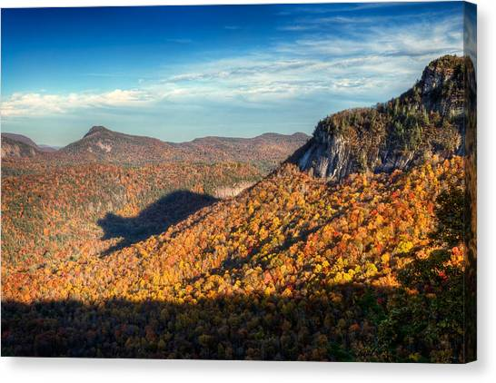 Appalachian Mountains Canvas Print - North Carolina Autumn Mountain Bear Shadow Nc by Dave Allen
