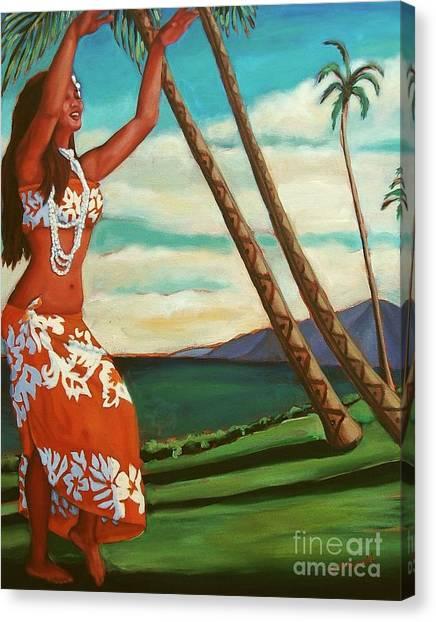 The Spirit Of Hula Canvas Print