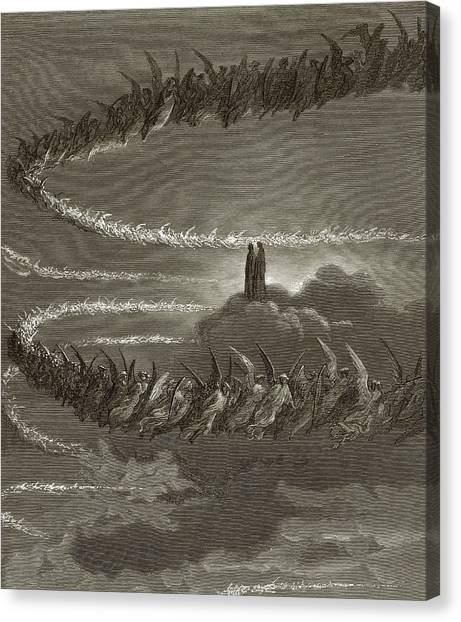 Celestial Sphere Canvas Print - The Spirits In Jupiter by Gustave Dore
