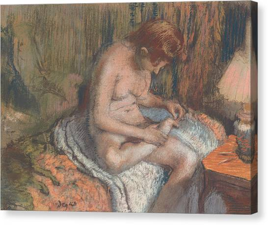 Edgar Degas Canvas Print - The Splinter by Edgar Degas