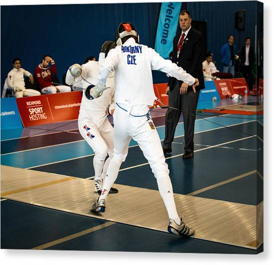 The Sport Of Fencing 1 Canvas Print