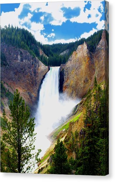 Water Falls Canvas Print - The Spray by Wayne Stacy