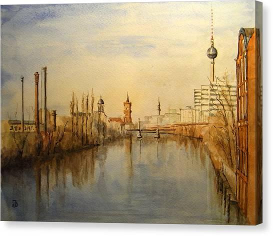 Berlin Canvas Print - The Spree Berlin by Juan  Bosco