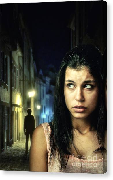 Worried Canvas Print - The Stalker by Carlos Caetano