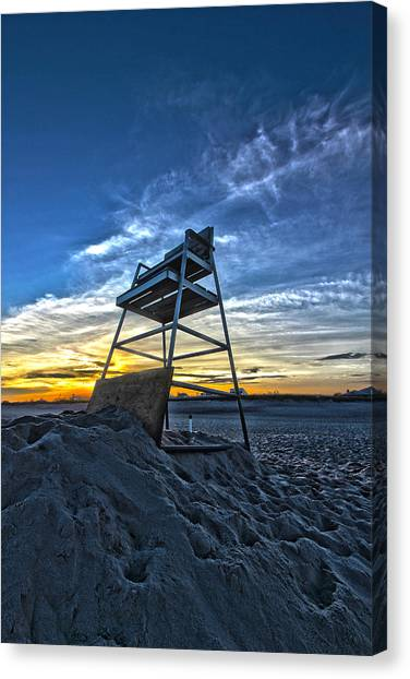 The Stand At Sunset Canvas Print