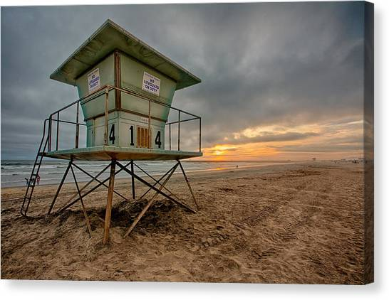 Lifeguard Canvas Print - The Stand by Peter Tellone