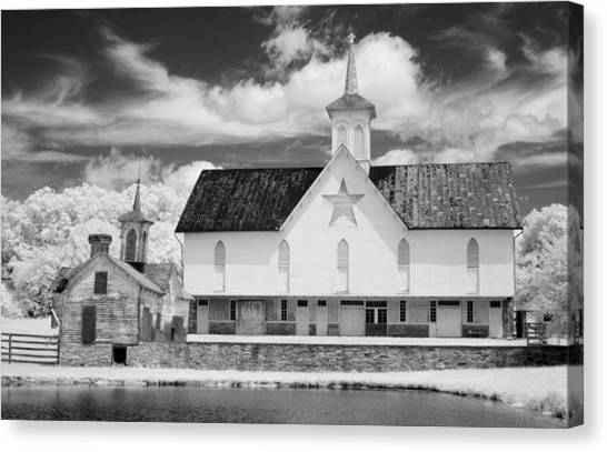 The Star Barn - Infrared Canvas Print