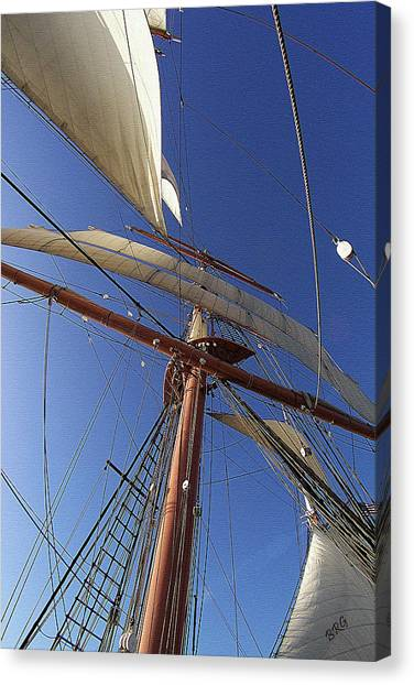 The Star Of India. Mast And Sails Canvas Print