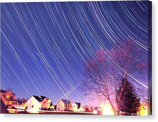 The Star Trails Canvas Print