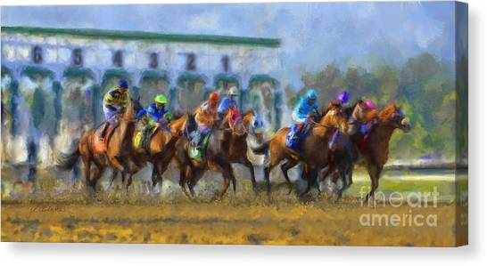 The Starting Gate Canvas Print