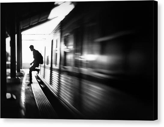 Jump Canvas Print - @the Station: Rush Arrival by Sebastian Kisworo