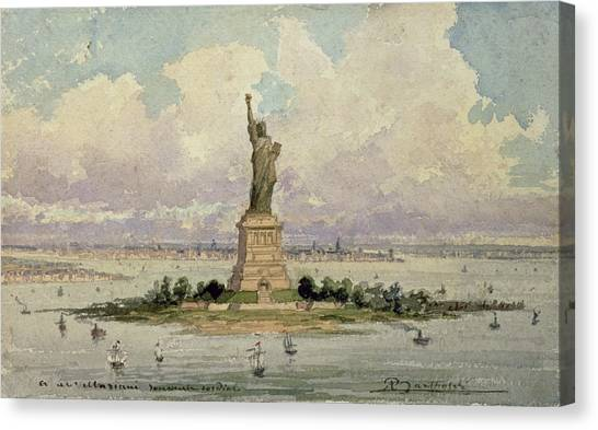 Neoclassical Art Canvas Print - The Statue Of Liberty  by Frederic Auguste Bartholdi