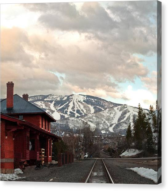 The Steamboat Depot Canvas Print