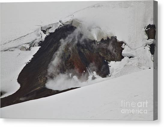 The Steaming Eyjafjallajoekull Canvas Print
