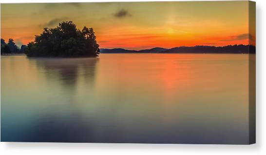 The Still And Quiet Dawn Canvas Print