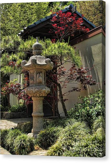 The Stone Lantern Canvas Print