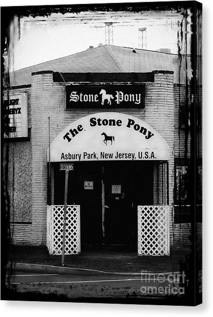 Bruce Springsteen Canvas Print - The Stone Pony by Colleen Kammerer