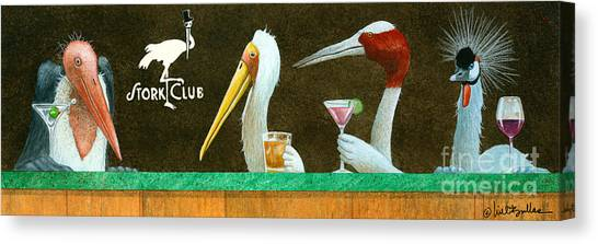 Storks Canvas Print - The Stork Club... by Will Bullas